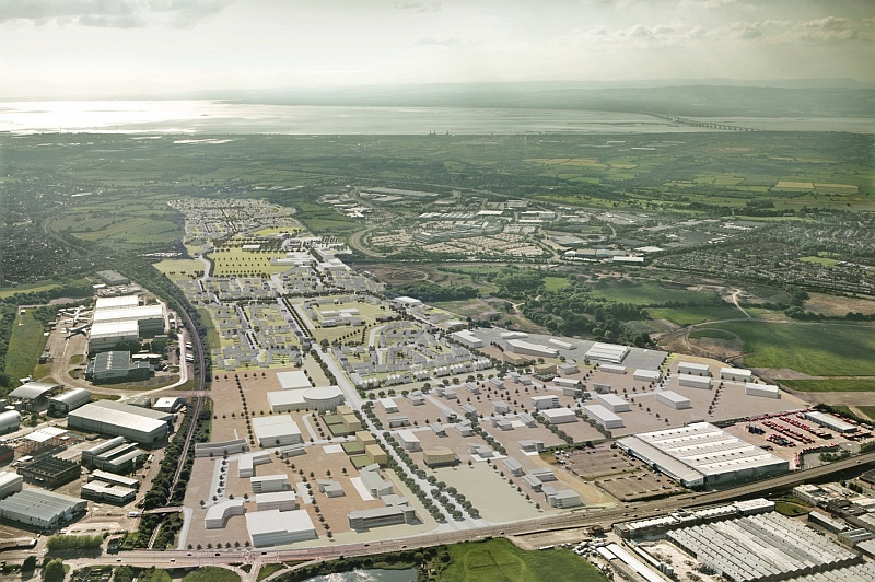Filton Airfield redevelopment: Aerial view.