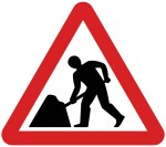 Roadworks sign.