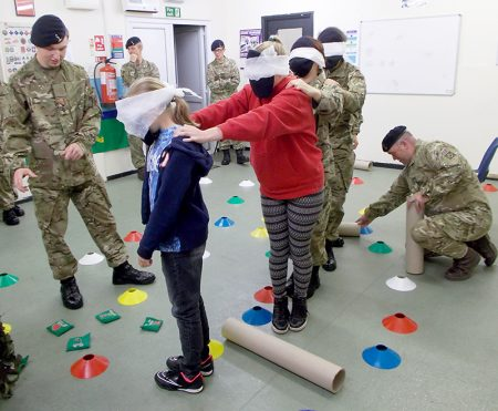 Patchway Arny Cadets: Blindfolded assault course challenge.