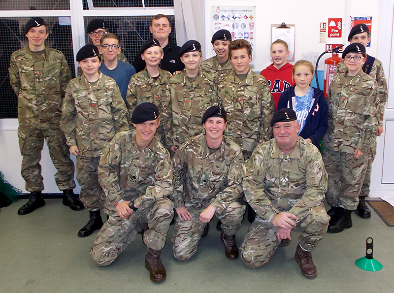 Members of Patchway Army Cadet unit.