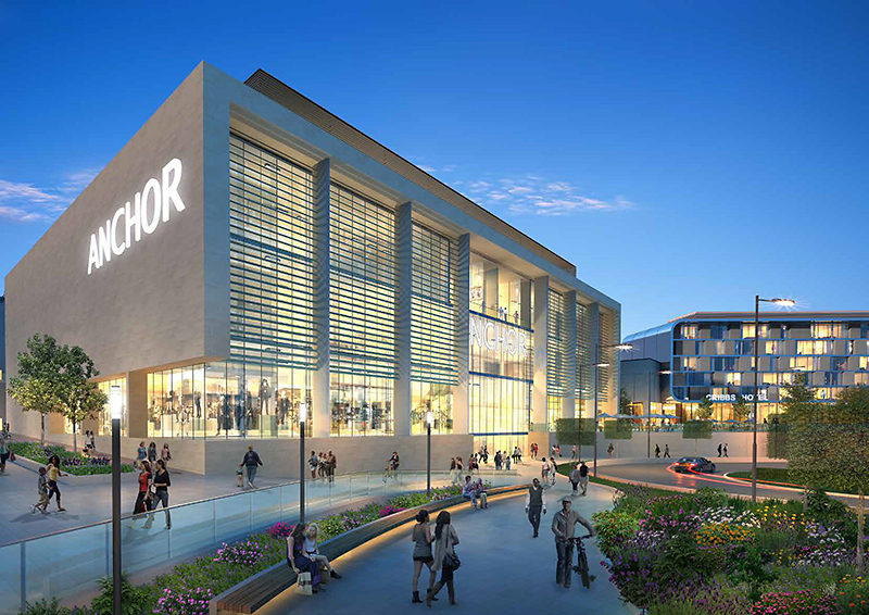 Artist's impression of a new 'anchor' store planned as part of an extension at The Mall, Cribbs Causeway, Bristol.