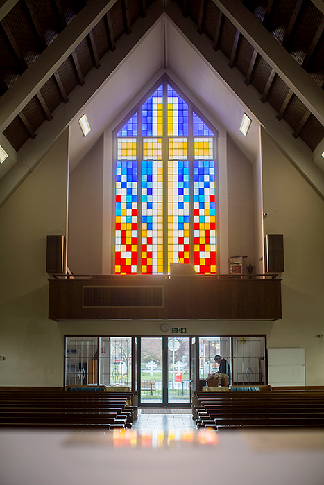 Photo of the stained glass window.