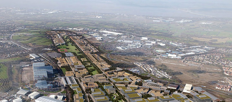 Artist's impression of Filton Airfield redevelopment.