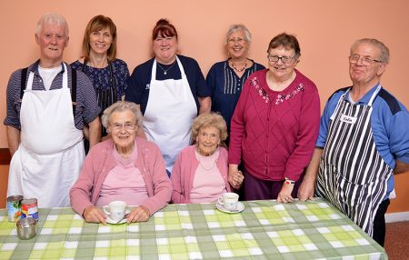 Photo of helpers and guests at Patchway Pensioners' Lunch Club