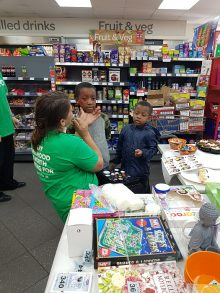 NSPCC fundraising day at the SPAR store in Rodway Road, Patchway.