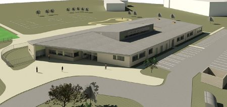 Pegasus School, Patchway - 3D view from planning application.