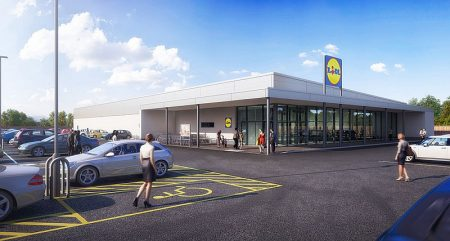 CGI image of the proposed Lidl store.