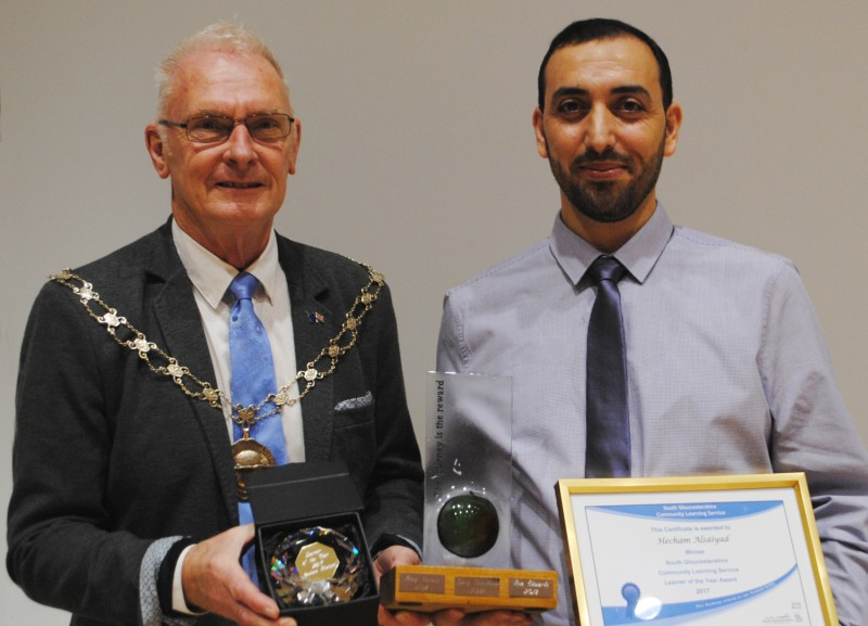 Photo of Cllr Ian Blair (left) and Hecham Alsaiyad.