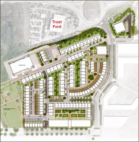 Illustrative block plan for the first phase of 278 homes.
