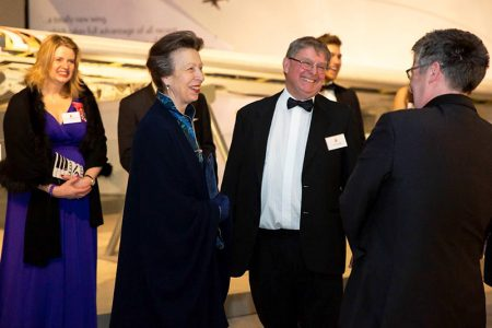 Photo of HRH The Princess Royal at the Concorde50 gala dinner.