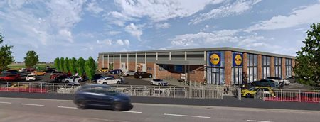 Visualisation of a proposed Lidl store on Hayes Way, Charlton Hayes.