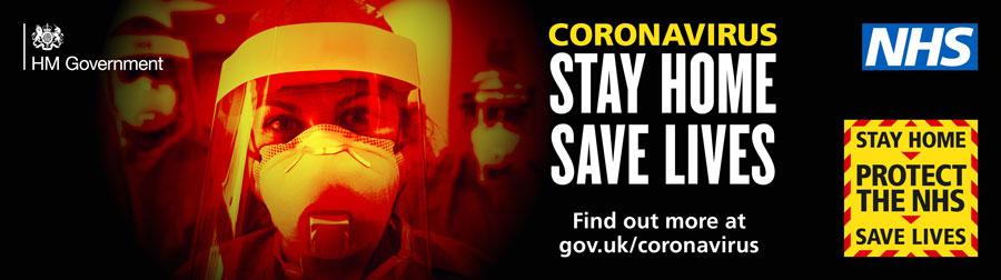 Coronavirus: Stay home, save lives.