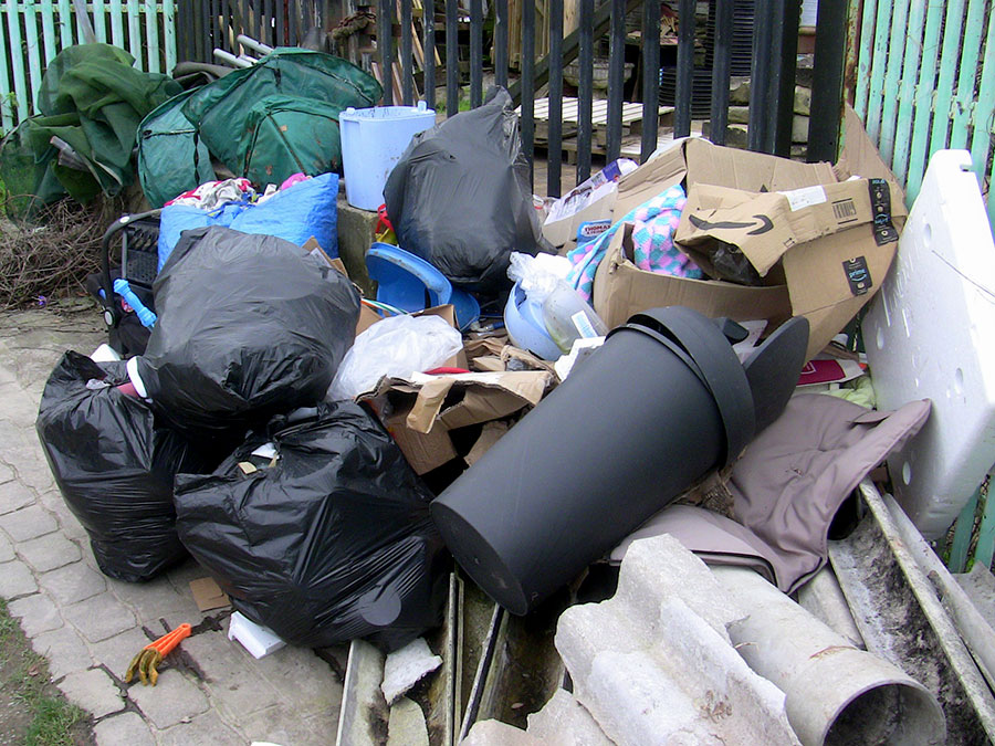 Photo of fly-tipped waste in Little Stoke.